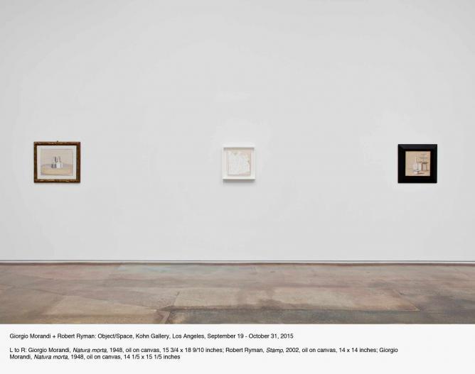 Giorgio Mirandi + Robert Nyman: Object/Space   Courtesy Kohn Gallery
