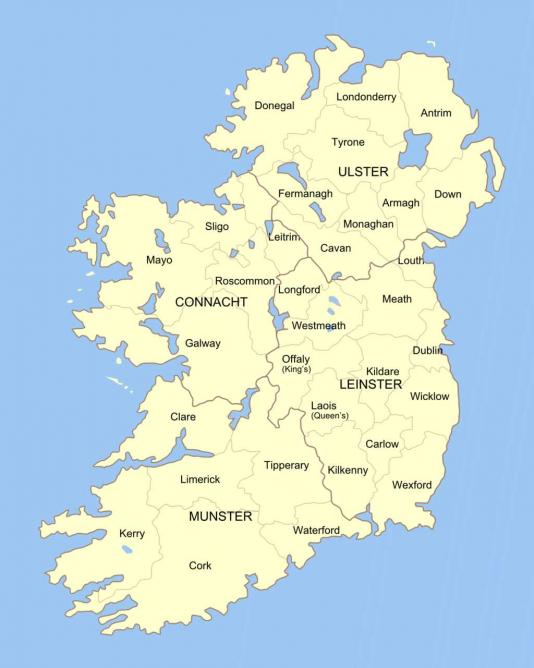 Regions and Provinces of Ireland