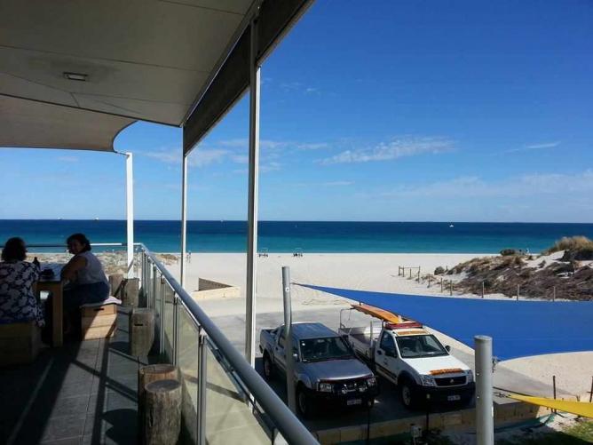 The view from Bib & Tucker on Leighton Beach