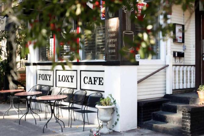 Front porch to Foxy Loxy