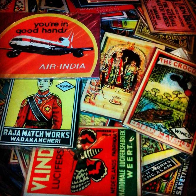 Vintage Match Box Covers | © meenakshi madhavan/flickr