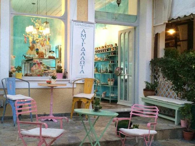 Vanilia's fairytale-like exterior space | Courtesy of Vanilia Spetses