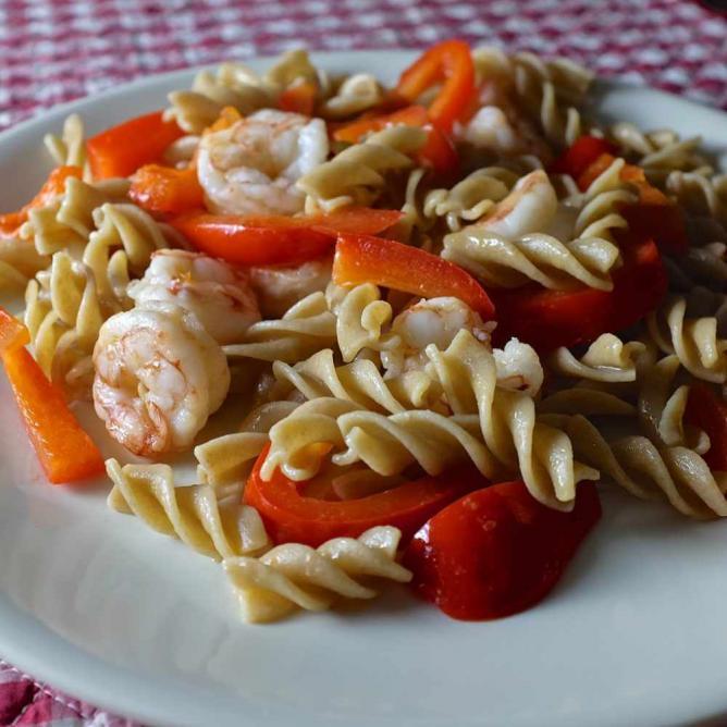 Fresh Seafood and Veggie Pasta