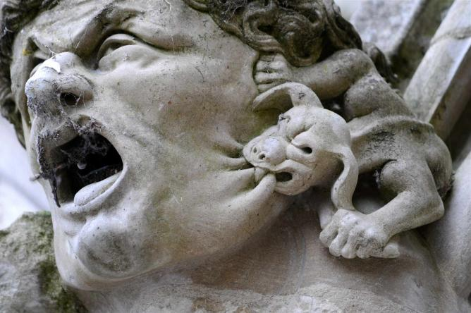 Gargoyle In The Cathedral Of Lincoln England