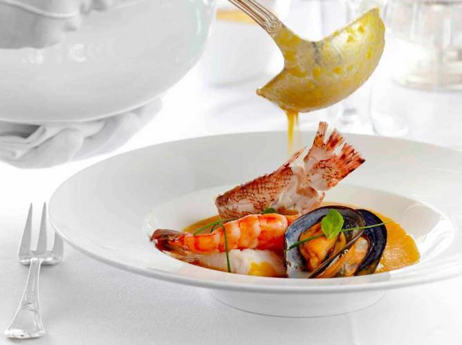 Aegean soup   Courtesy of Hotel Grande Bretagne Roof Garden