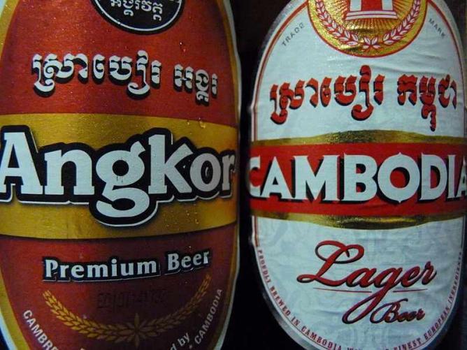 Angkor and Cambodia Beer   © Dudva/WikiCommons