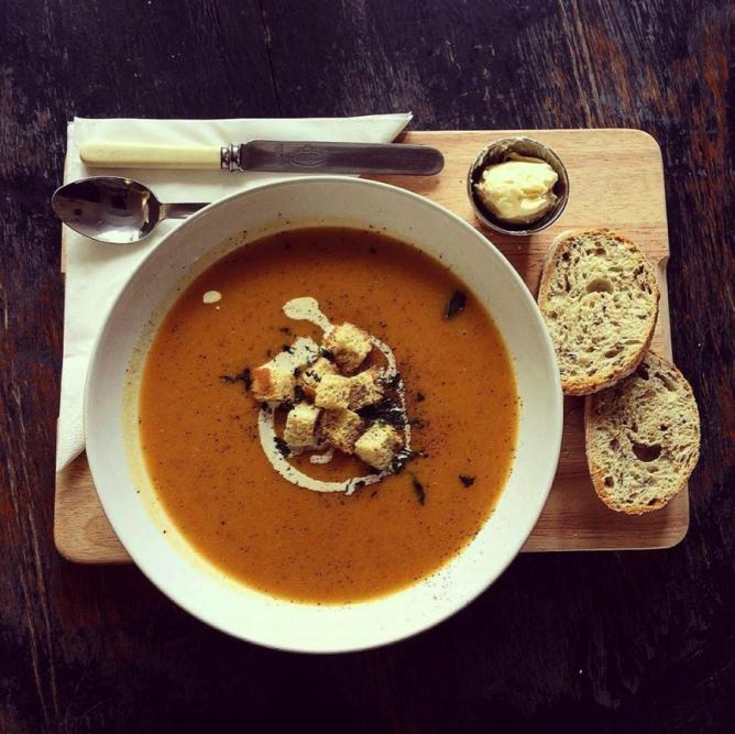 Sweet potato and butternut squash soup | © Velvet Elvis