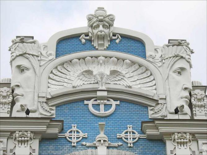 Art Nouveau building in Riga | © Jean-Pierre Dalbéra/Flickr