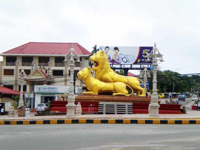 Golden Lions Roundabout Sihanoukville Cambodia | © Wikirictor/WikiCommons