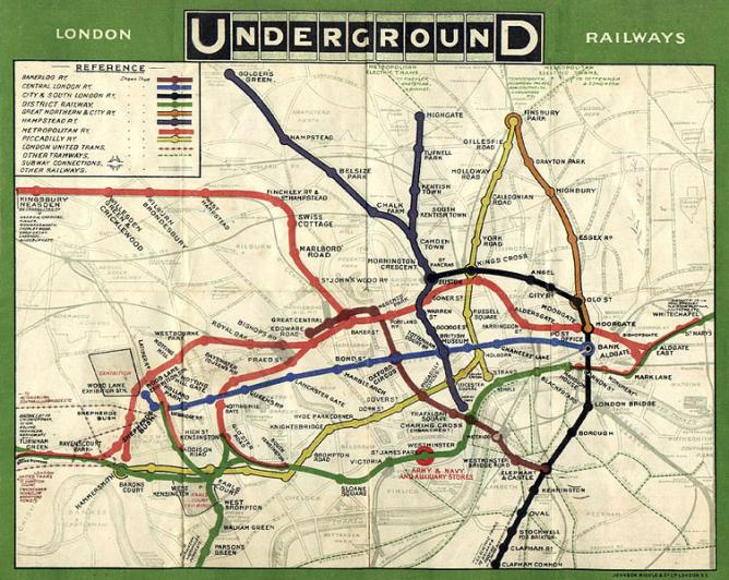 1908 Map of the London Underground | © Unknown/WikiCommons