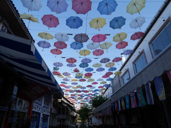 Umbrella Street, Antalya | Photo credit, Sarah Borg