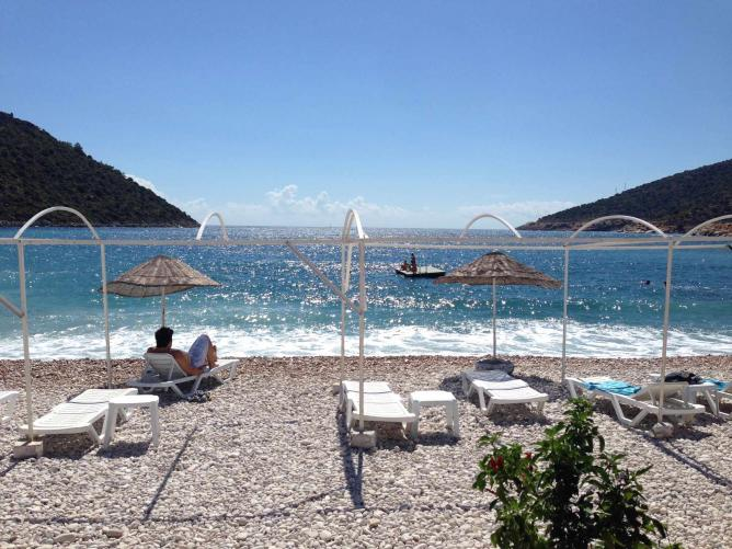 Gökliman Plaj, one of the many beaches along the coastal road from Kaş to Antalya | Photo credit, Sarah Borg