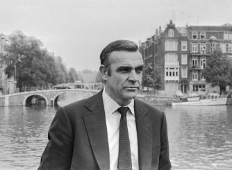 Sean Connery during the filming of Diamonds Are Forever in Amsterdam   © Materialscientist/WikiCommons
