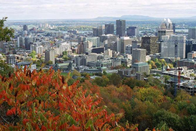 Downtown Montreal from Mont Royal's peak | © Wikipedia Commons