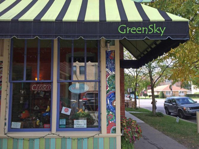 Storefront of GreenSky | © Benita Gingerella