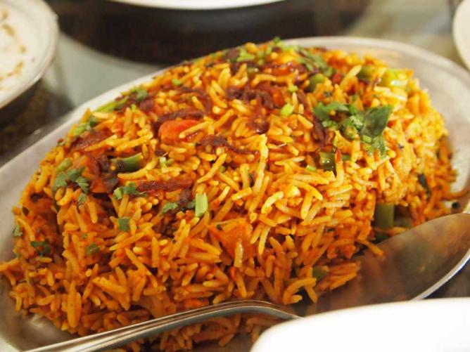 Indian vegetable biryani