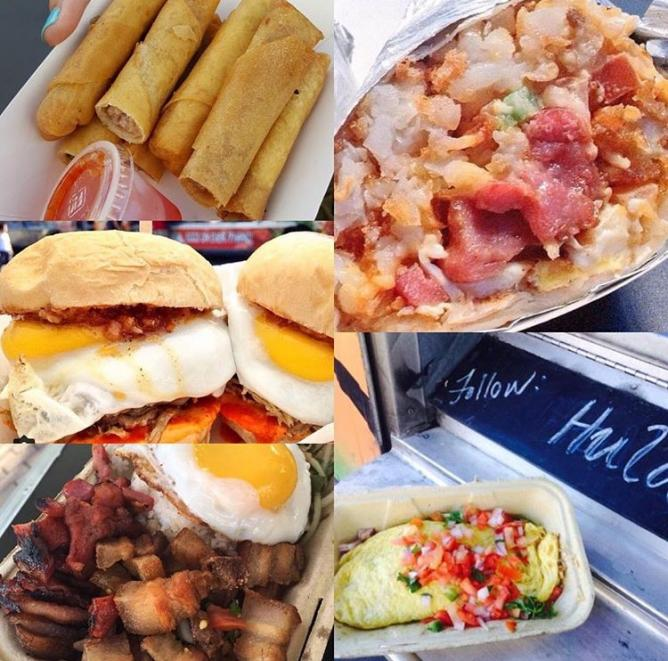 Sample Platter of Dishes | Courtesy of Hula Truck