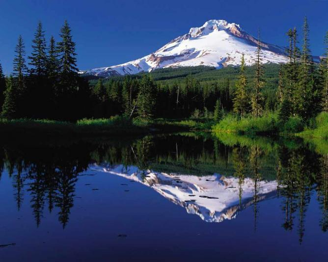 Mount Hood from Enid Lake, Clackamas County | Courtesy Oregon's Mt. Hood Territory