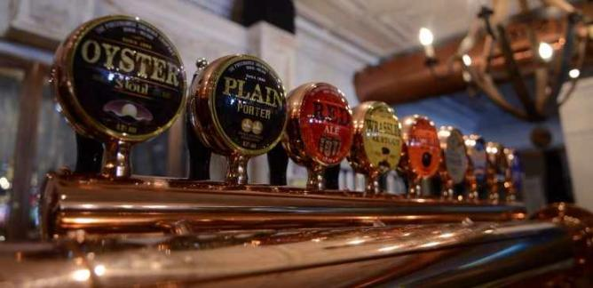 Beers on Tap | Image courtesy of Fraunces Tavern