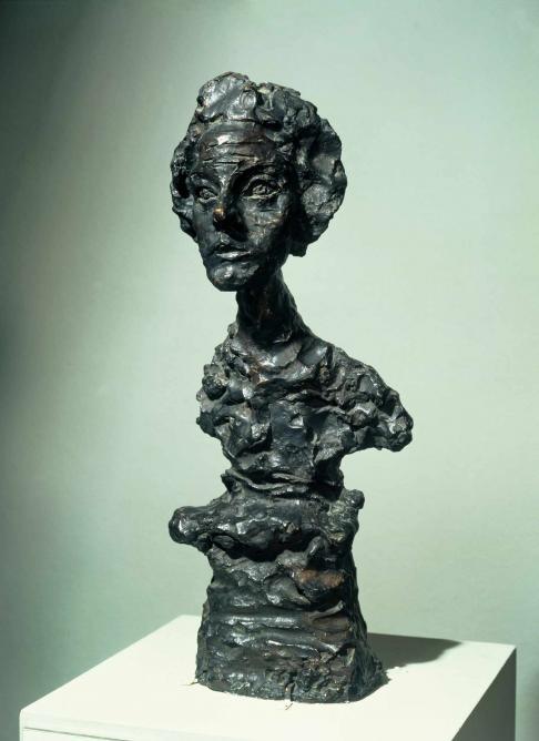 Annette IV, 1962 (cast 1965), bronze, 578 x 236 x 218 mm; Tate, London 2015 © The Estate of Alberto Giacometti (Fondation Giacometti, Paris and ADAGP, Paris) 2015