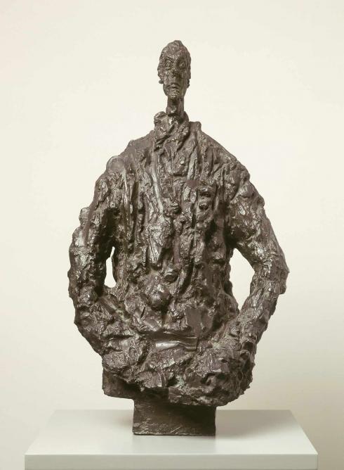 Diego in a Sweater, 1953, bronze, 490 x 280 x 225 mm; Kunsthaus Zurich, Alberto Giacometti-Stiftung © The Estate of Alberto Giacometti (Fondation Giacometti, Paris and ADAGP, Paris) 2015