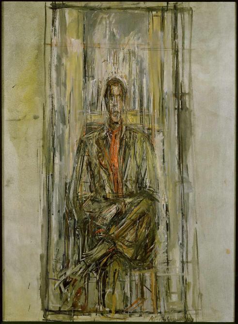 Diego Seated, 1948, oil on canvas, 806 x 502 mm; Robert and Lisa Sainsbury Collection, Sainsbury Centre for Visual Arts, University of East Anglia © The Estate of Alberto Giacometti (Fondation Giacometti, Paris and ADAGP, Paris) 2015; Photo James Austin