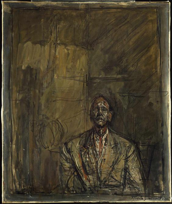 Jean Genet, 1954 - 1955, oil on canvas, 653 x 543 mm; Tate London 2015 © The Estate of Alberto Giacometti (Fondation Giacometti, Paris and ADAGP, Paris) 2015