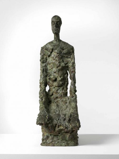 Diego Seated, 1964 - 1965, bronze, 590 x 185 x 330 mm; Louisiana Museum of Modern Art, Humlebaek, Denmark © The Estate of Alberto Giacometti (Fondation Giacometti, Paris and ADAGP, Paris) 2015