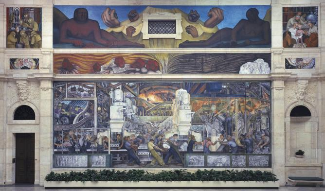 Diego Rivera, Detroit Industry mural, 1932-33/ (c) Joaquín Martínez