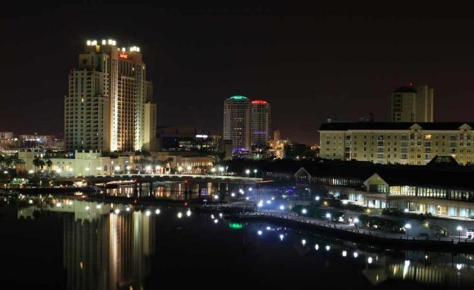 south tampa night time