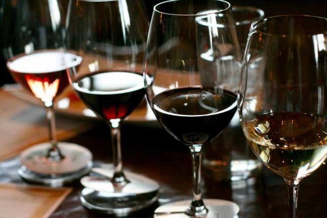 wine tasting flight