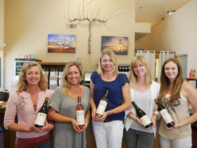 Ancient Peaks Wine Tasting Shop staff show off the goods | © Paul & Teresa Lowe