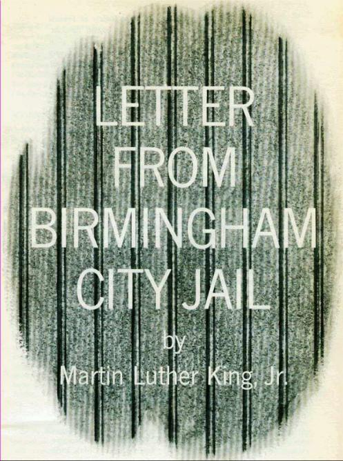 Book cover of Letters from Birmingham Jail, by Martin Luther King Jr.  © HaperCollins