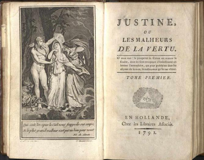Justine by Marquis de Sade © Wikicommons