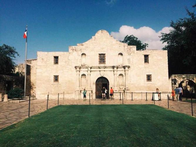 Outside the Alamo Mission