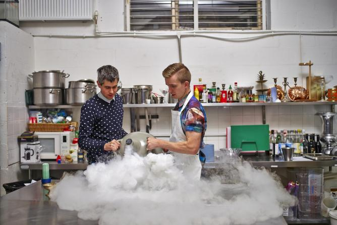 Bompas & Parr busy at work | Photograph by Stefan Braun/Courtesy of Bompas & Parr