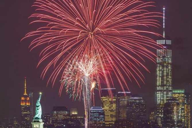 Fourth of July in the city
