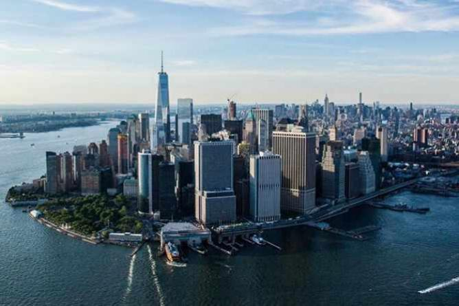 Downtown Manhattan from the air