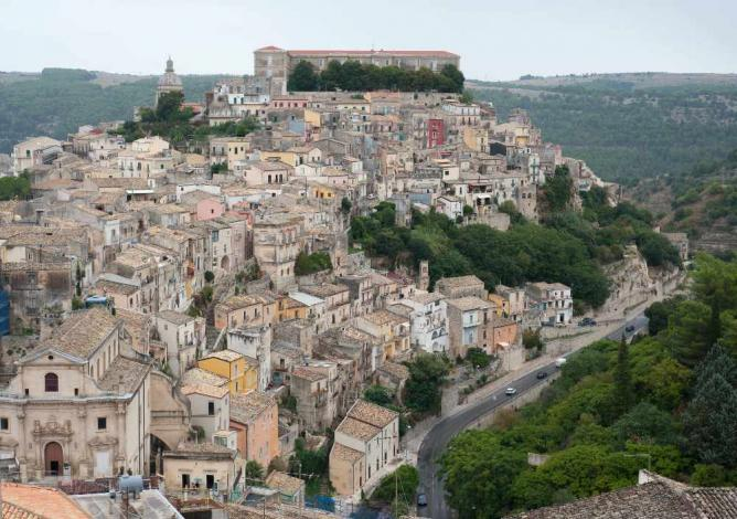 Panoramic view of Ragusa Ibla I © Pia Staigmueller