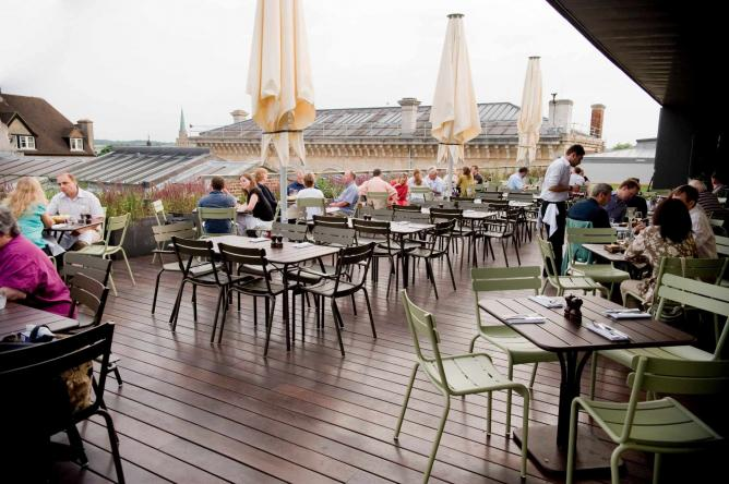 The Ashmolean Dining Room Terrace | Courtesy of The Ashmolean Dining Room