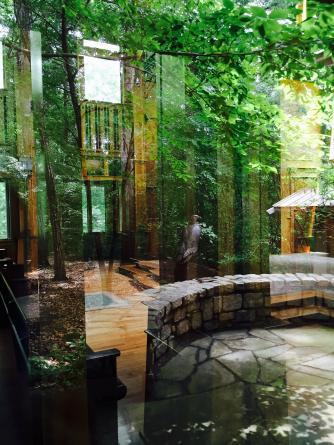 Window to chapel at State Botanical Gardens of Georgia