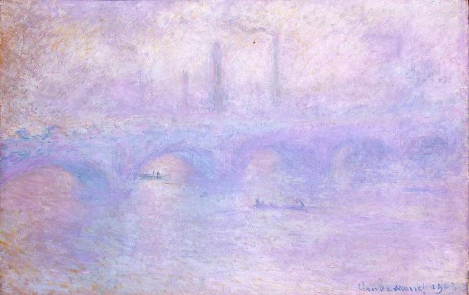Waterloo Bridge in Fog, by Claude Monet, 1903   © Hermitage Museum/Wikicommons