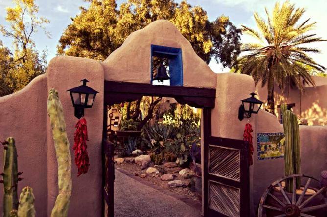 The entrance way to the Grill at Hacienda del Sol.
