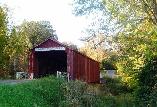 Red Covered Bridge in Princeton, Bureau County | © Kepper66/WikiCommons