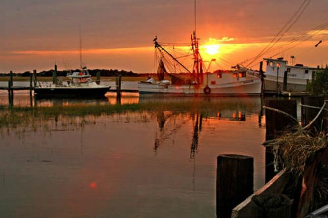 Murrells Inlet At Sunset