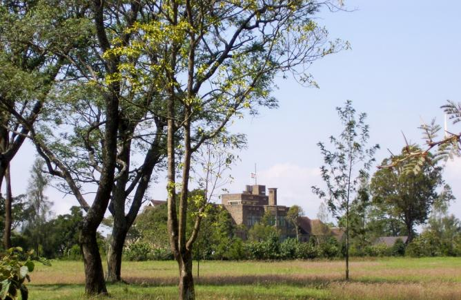 Lord Egerton Castle from a distance (cropped version)   © Trees ForTheFuture/Flickr