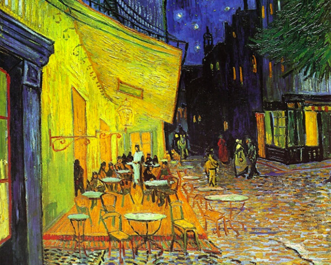 Terrasse de Cafe la Nuit, Van Gogh | © Mike Fitzsimon/Flickr