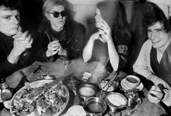 Left to right: Paul Morrissey, Andy Warhol, Janis Joplin, Tim Buckley in 1968 | © nico7martin/Flickr