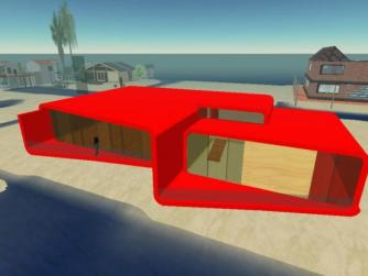 Replica Model of the PR34 house by a fan