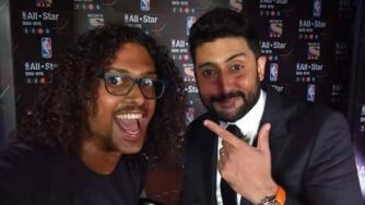 With Abhishek Bachchan | © Clince Varghese